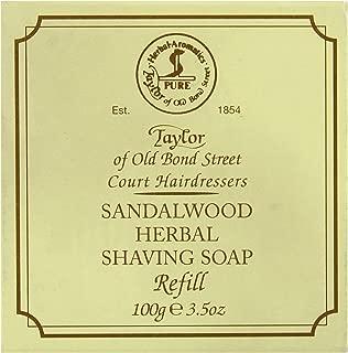 Taylor of Old Bond Street Sandalwood Hard Shaving Soap Refill, 3.5-Ounce