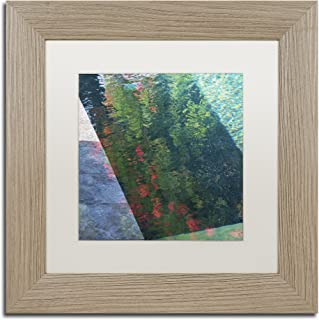 Inspired by Monet by Kurt Shaffer, White Matte, Birch Frame 11x11-Inch