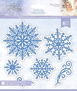 Sara Signature S-GS-MD-SNFL Glittering Collection-Metal Die-Snowflake Flurry, Silver