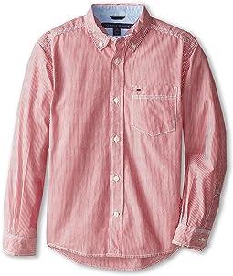 Tommy Hilfiger Kids Tommy Stripe Shirt (Big Kids)