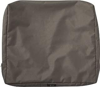 Classic Accessories Ravenna Patio Back Cushion Slip Cover, Dark Taupe, 25
