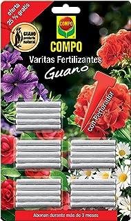 Compo Varitas Fertilizantes con Guano para Plantas de Interior y Exterior, Adecuada duración de hasta 3 Meses, 30 Unidades, 24.3 X 14.4 X 0.5 Cm, 1206302011