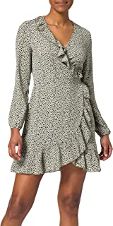 Only Onlcarly L/S Wrap Short Dress Noos Wvn Vestido para Mujer