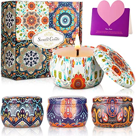 Scented Candle Gift Set of 8 Pack Valentines Gifts for Her,for Women,for Family Friends Aromatherapy Candles Multipack Innoo Tech Scented Candles Handmade Natural Soy Wax Candle