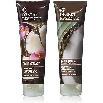 Desert Essence Coconut Shampoo & Conditioner Bundle - 8 Fl Ounce - Nourishing For Dry Hair - Delightful Scent - Refreshes Skin - Coconut Oil