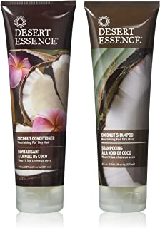Desert Essence Coconut Shampoo & Conditioner Bundle - 8 Fl Ounce - Nourishing For Dry Hair - Delightful Scent - Refreshes ...