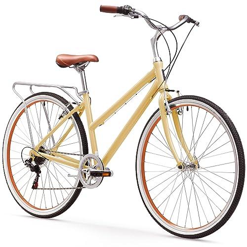 sixthreezero Explore Your Range Women's Hybrid Commuter Bicycle with Rear Rack