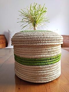 Cesto di rafia colorato, cesto colorato, cesto artigianale marocchino, cesto intrecciato, bara di vimini