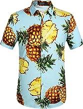 SSLR Men's Pineapple Casual Button Down Short Sleeve Hawaiian Shirt