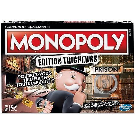 Monopoly Tricheurs, Jeu de societe, Jeu de plateau pour la famille, Version francaise, A partir de 8 ans