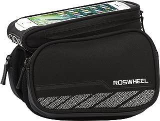Roswheel 12813 Water Resistant Bike Top Tube Bag Bicycle Frame Dual Panniers with Detachable Phone Bag