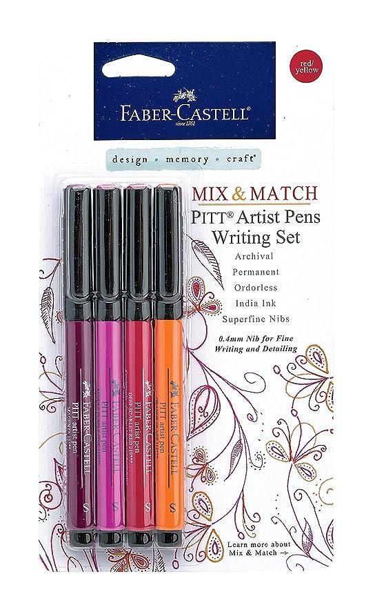 Faber-Castell PITT Artist Pen Set (Red/Yellow Pens)