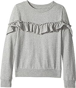 Heather Pullover Ruffle Sweatshirt (Big Kids)