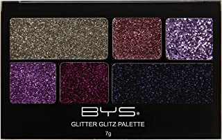 BYS Glitter Glitz Gel for Eyes and Face 6 Shade Makeup Palette - Purple Jewels