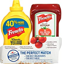 French's The Perfect Match Bundle Classic Yellow Mustard & Tomato Ketchup, 20 OZ