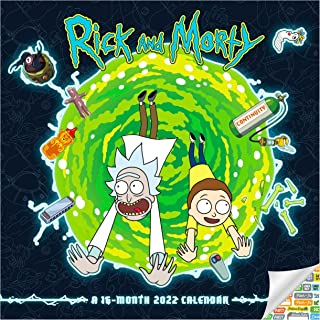 Rick and Morty Calendar 2022 -- Deluxe 2022 Rick and Morty Wall Calendar Bundle with Over 100 Calendar Stickers (Rick and ...
