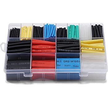 260pcs Heat Shrink Tube Assortment Wire Wrap Electrical Insulation Sleeving I