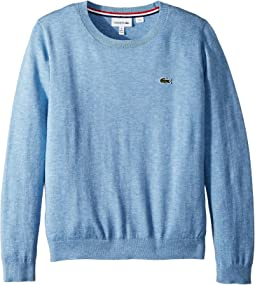 Lacoste Kids - Classic Jersey Crew Neck Sweater (Toddler/Little Kids/Big Kids)
