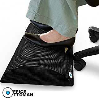 Foot Rest Under Desk Non-Slip Ergonomic Footrest Foam Cushion - Excellent Under Desk Leg Clearance, by Office Ottoman