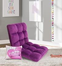 Chic Home RC64-26PL-N1-WT Lounge Adjustable Recliner Rocker Memory Foam Armless Floor Gaming Ergonomic Chair, Purple