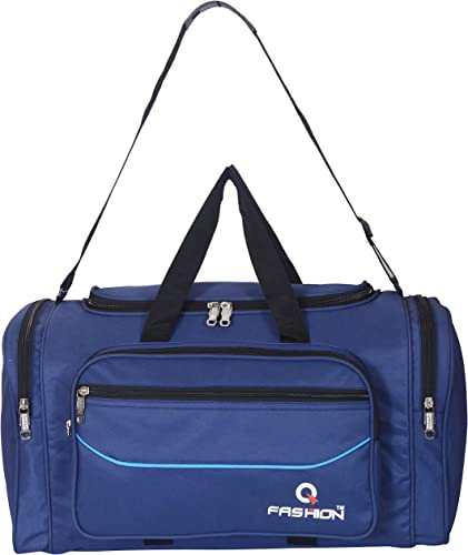 Duffle Collection Lightweight Polyester 70 Litres Travel Duffel 56 Cms Size Bag Blue Set Of 1 Pcs