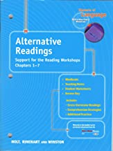 Holt, Rinehart and Winston, Elements of Language, Introductory Course, ALTERNATIVE READINGS, Support for the Reading Workshops, Chapters 1-7 (MiniReads, teaching notes, student worksheets, answer key, Includes: cross-curricular readings, comprehension strategies, additional practice)