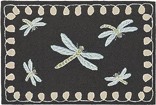 Liora Manne 2048/47 Front Porch Dragonfly Midnight Indoor/Outdoor Rug, 20