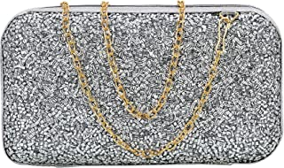 Bagwell® Party Wear Clutch with Detachable Golden Sling For Women