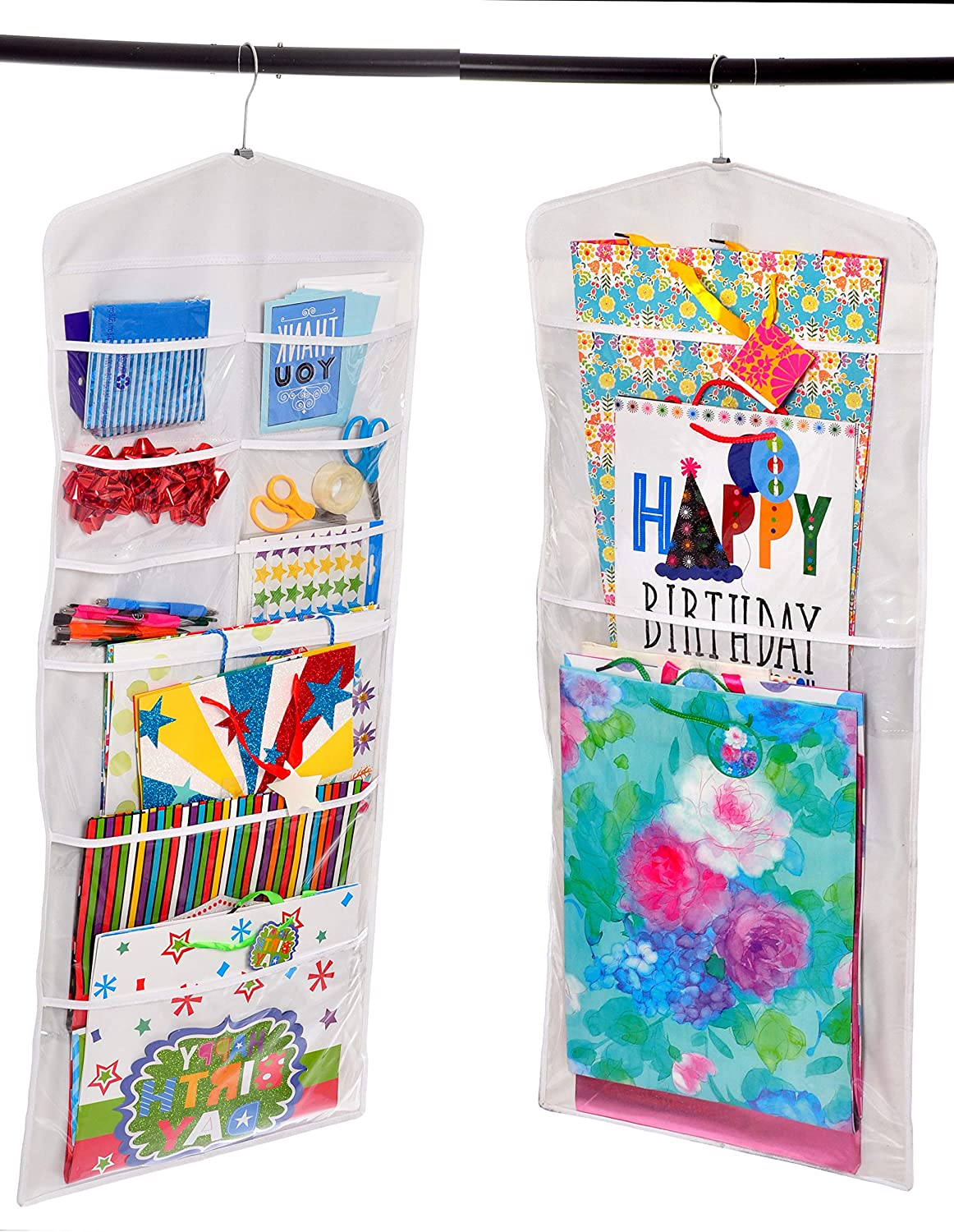 Liscott Hanging Free Shipping New Gift Wrap Organizer Double 40