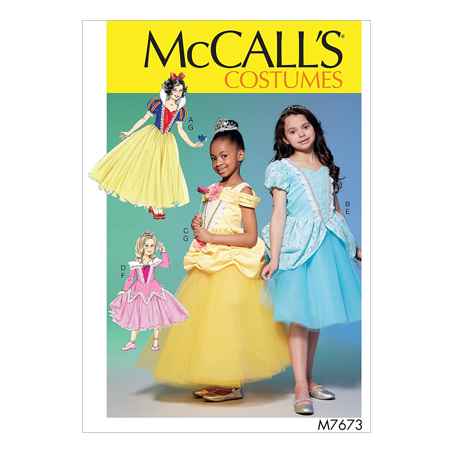 McCall's Patterns M7673CCE Fairytale Princess Dress Costume Sewing Pattern for Girls, Sizes 3-6
