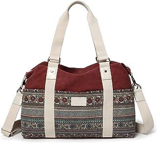 ArcEnCiel Women's Large Canvas Shoulder Hand Bag Tote Bag