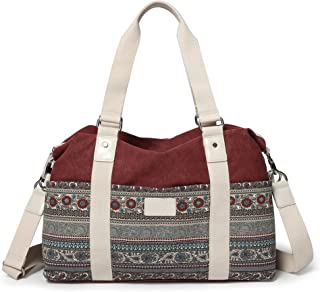 ArcEnCiel Women's Large Canvas Shoulder Hand Bag Tote Bag
