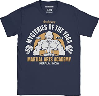 6TN Mens Dhalsims Mysteries of Yoga Martial Arts Academy T Shirt