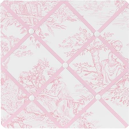 Amazon Com Pink French Toile Fabric Memory Memo Photo Bulletin Board By Sweet Jojo Designs Baby