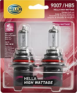 HELLA 100/80WTB Wattage-100/80W High Wattage 9007 Bulbs, 12V, 2 Pack