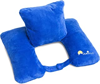 Versillo Travel Pillow. The Pillow for Everything. More Than Just a Neck Pillow. Neck, Lumbar, Back Support. The Pillow Th...