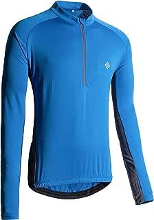 KORAMAN Men's Reflective Long Sleeve Cycling Jersey with Back Zipper Pocket Loose Fit Bike Biking Shirts