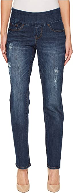Peri Straight Pull-On Jeans in Flatiron