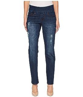 Peri Straight Pull-On Jeans in Flatiron