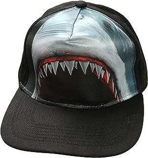 Shark Jaw Sublimation Premium Snap Back Baseball Cap Hat, One Size Black