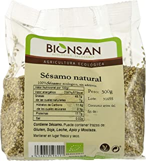 Bionsan Sésamo Natural Ecológico - 6 Bolsas de 300 gr - Total : 1800 gr