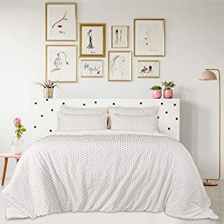 Infinite Weaves 3-Piece Queen Size Duvet Cover Set with Tufted Dots Weave 100% Cotton Cover and Shams - Luxurious, Ultra S...