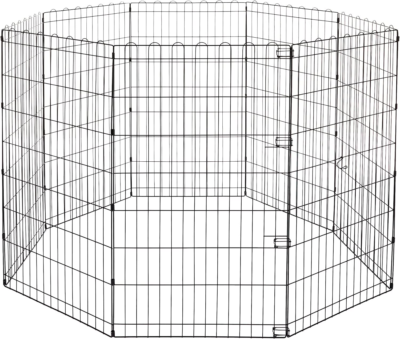 AmazonBasics Foldable Metal Pet Exercise and Playpen, 42
