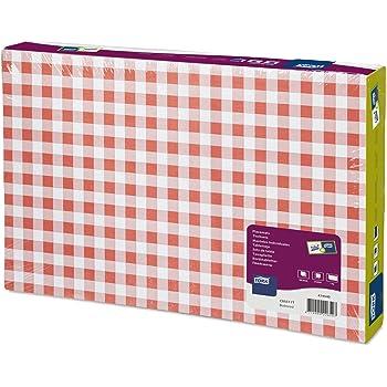 43 x 30 cm Lot de 100 sets de table en papier Vichy Rouge