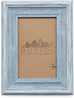 5x7 Picture Frame Distressed Blue - Mount Desktop Display, Frames by EcoHome
