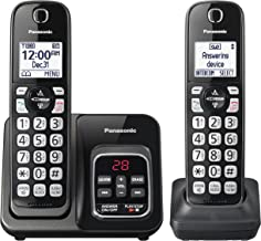 PANASONIC Expandable Cordless Phone System with Link2Cell Bluetooth, Voice Assistant,..