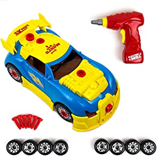 Take Apart Toy Racing Car Kit for Kids - 30 Pieces with Engine Sounds & Toy Tools for Kids Build Your Own Model Race Car Kit Construction Set