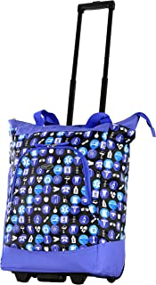 Deluxe Rolling Shopper Travel Tote, Purple, One Size