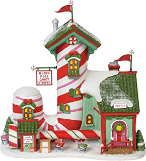 Department 56 North Pole Village Series Candy Striper Lit Animated Building, 7