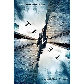 Amazon Com Tenet Movie Poster 24x36 Inch Glossy Photo Paper Wall Art Flyer Print Robert Pattinson John David Washington Posters Prints